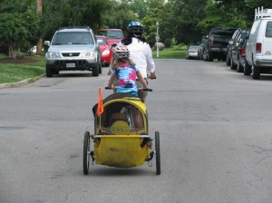 Climbing on the tandem/buggy configuration